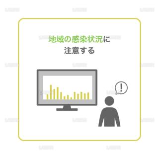 【新しい生活様式】地域の感染状況に注意する(タイプ2・Mサイズ)