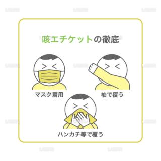 【新しい生活様式】咳エチケットの徹底(タイプ2・Mサイズ)