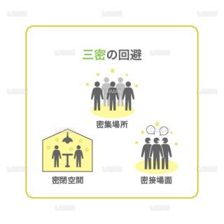 【新しい生活様式】三密の回避(タイプ2・Mサイズ)