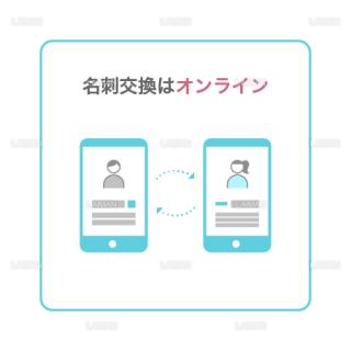 【新しい生活様式】名刺交換はオンライン(タイプ1・Mサイズ)