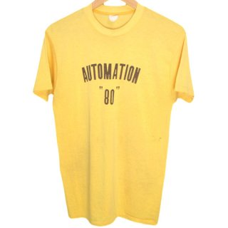 80's USA製 AUTOMATION 染み込みプリント Tシャツ - 221114