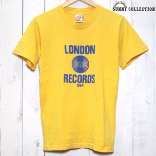 Fruit of the loom LONDON RECORDS プリント Tシャツ 黄 フルーツ - 042516