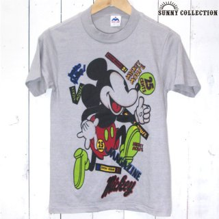 90's USA MILLER Mickey Mouse プリント Tシャツ - 061516