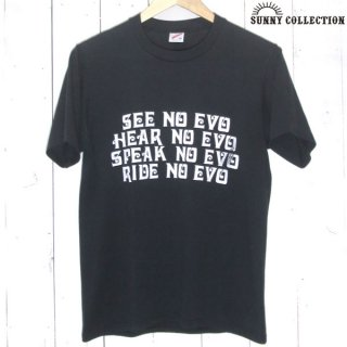 80's USA vintage Jerzees HURLEY-DAVIDSON EVO 両面 プリント Tシャツ 黒 ハーレーダビッドソン - 063016