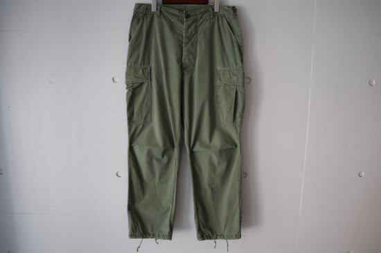 60's US.Army Jungle Fatigue Pants Non Rip 3rd Type Size:L-R