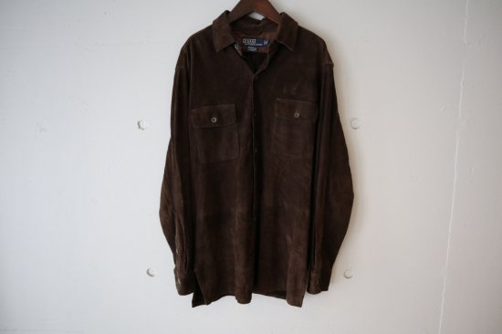 90's Polo by Ralph Lauren Suede Leather Shirts Size:M