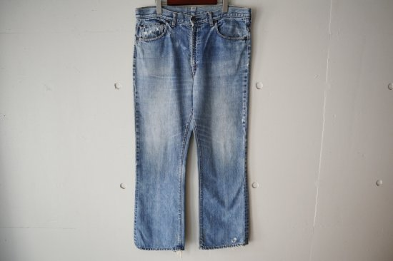 "70's Levi's 517-0217 ""Single"" Boot Cut  Denim Pants Size:37×29.5"