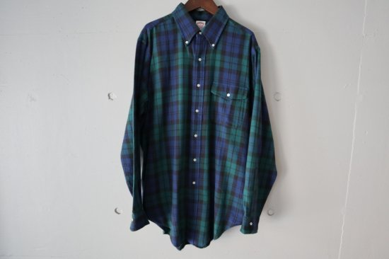 80's Brooks Brothers B.D check Flannel Shirts Size:L