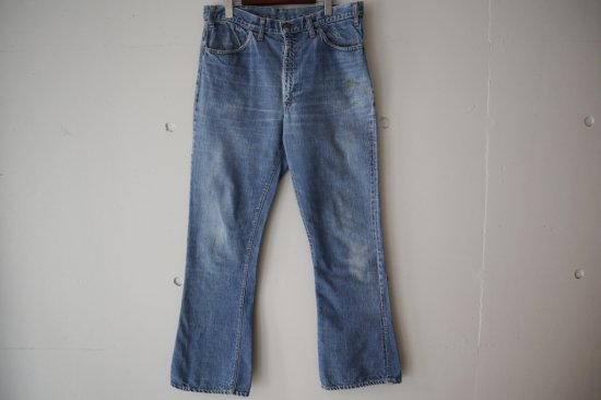 "70's Levi's 646 ""Big E"" Bell Bottom Denim Pants Size:34×31.5"