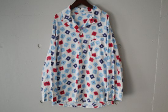 60's Pilgrim Cotton Pajama Shirts Size:34/36