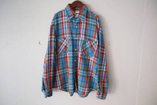 70s BIGMAC Heavy Flannel Check Shirts Size:L