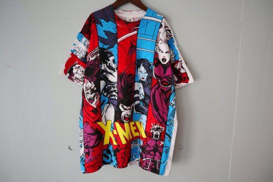 90's X-MEN All Over Print T-shirts Size:XL
