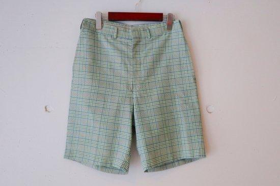 60's Koratron Check Slacks Short Pants Size:29