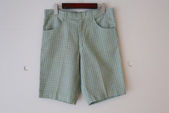 60's Unknown Check Slacks Short Pants Size:31.5