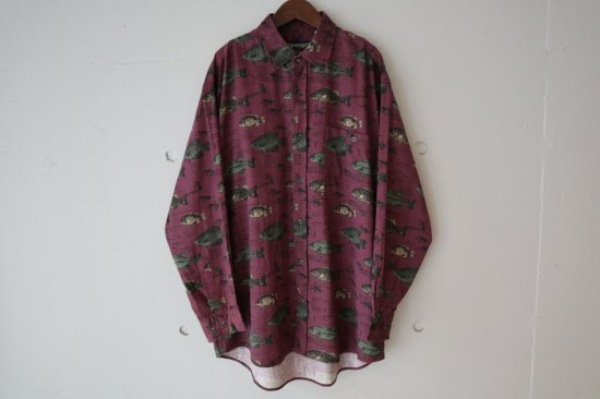 ~90's Revenge Shirt makers Fishing Pattern Shirts Size:M