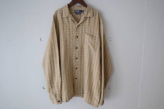 90's Polo by Ralph Lauren Check Linen Shirts Size:L