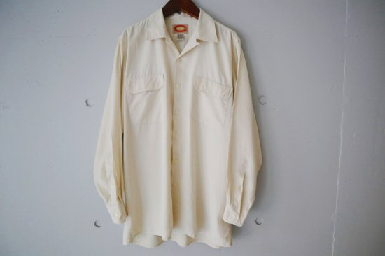 ~90's Banana Republic Cotton Rayon Open Collar L/S Shirts Size:M