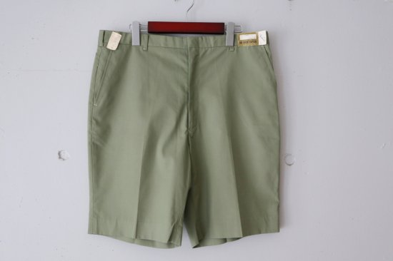 """Dead Stock""60's Bonaire Poplin Slacks Short Pants Size:36"