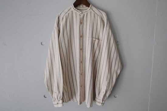 Claiborne No Collor Cotton Linen L/S Shirts Size:M