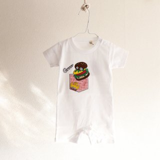 Snack series KID_HAMBURGER RED ROMPERS