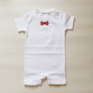 Ribon series KID_RIBON RED DOT ROMPERS