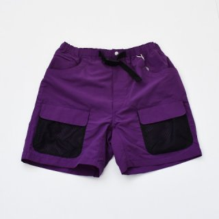 ENDS and MEANS UTILITY SHORTS Purple