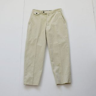 ENDS and MEANS Grandpa Cord Trousers [IVORY]