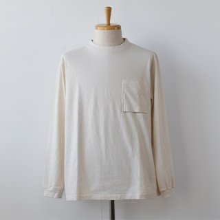 【Jackman】Pocket Long Sleeve TーShirts  [Kinari]