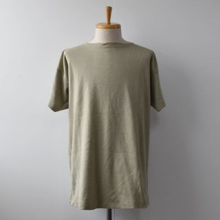 【DEAD STOCK】00's ITALIAN MILITARY BOAT NECK SHIRTS -TAN-