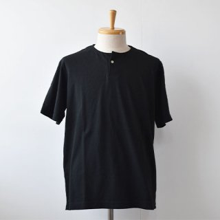 【Jackman】Henley Short Sleeve T-Shirts  -Black-