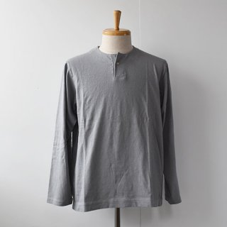 【Jackman】Henleyneck Long Sleeve T-Shirts  -Soft Gray-