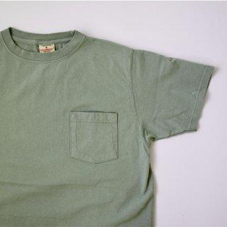 【GOODWEAR】 Short Sleeve Pocket TEE -SMOKY SAGE GREEN-