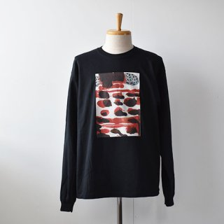 【EMDS and MEANS】Dairy Rubies Long sleeve TEE    -Black-