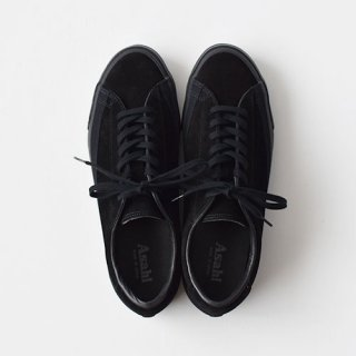 <img class='new_mark_img1' src='https://img.shop-pro.jp/img/new/icons14.gif' style='border:none;display:inline;margin:0px;padding:0px;width:auto;' />【ASAHI】 BELTED LOW SUEDE - BLACK/BLACK-