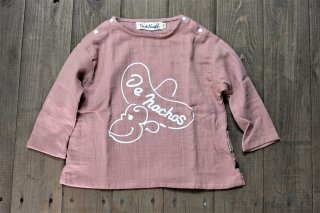 <img class='new_mark_img1' src='https://img.shop-pro.jp/img/new/icons14.gif' style='border:none;display:inline;margin:0px;padding:0px;width:auto;' />W GAUZE LONG SLEEVE TEE MONKEY(g-2051)pnk