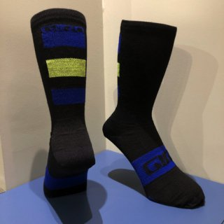 【GIRO/ジロ】SEASONAL MERINO WOOL SOCKS Blue / Black / Lime