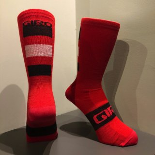 【GIRO/ジロ】SEASONAL MERINO WOOL SOCKS Dark Red / Black / Grey