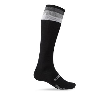 【GIRO/ジロ】HIGHTOWER MERINO WOOL SOCKS Black / Grey Stripe