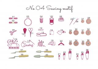【刺繍データダウンロード】1-03 Sewing motif