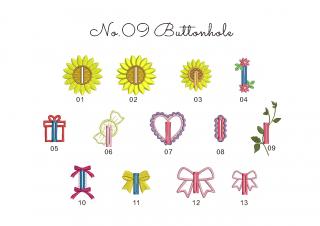 【刺繍データダウンロード】1-05 Buttonhole