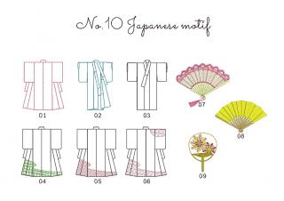【刺繍データダウンロード】1-06 Japanese motif