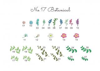 【刺繍データダウンロード】1-11 Botanical