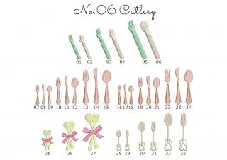 【刺繍データダウンロード】2-04 Cutlery
