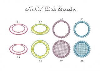 【刺繍データダウンロード】2-05 Dish & coaster & box