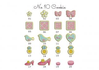 【刺繍データダウンロード】2-07 Cookie