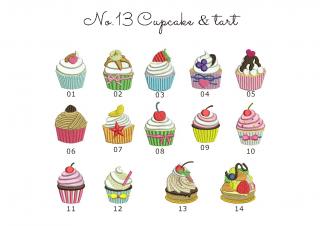 【刺繍データダウンロード】2-09 Cupcake & tart