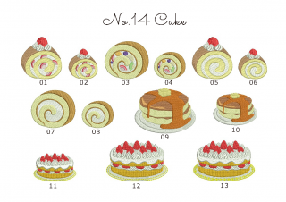【刺繍データダウンロード】2-10 Cake