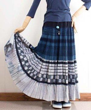 モン族バティック・ロングスカート