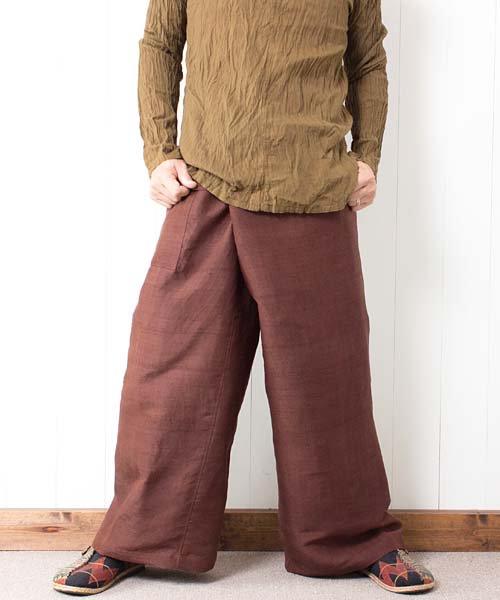 スリン手織りシルク・タイパンツ