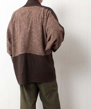 草木染め手織り綿のドルマンスリーブジャケット